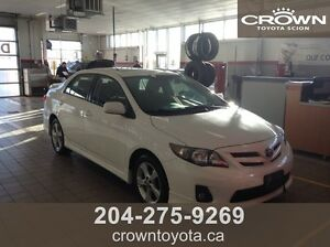 2012 TOYOTA COROLLA S! CLEAN CARPROOF, ONE OWNER, TRADE IN @ CR