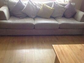 4 Seater Sofa & 1 Armchair - silver grey