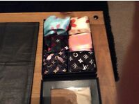 Full set of Louis Vuitton silk scarves