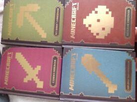 Minecraft Books x 4