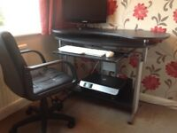 Computer workstation / desk and office chair