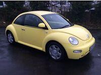 2000 Volkswagen Beetle 2.0 petrol MOT May 2017 Service history £995
