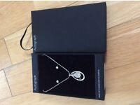 Beautiful necklace and earrring set in its original M&S box