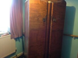 Vintage wardrobe built in small compartments in very good condition 60