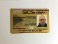 SELECT registered Approved Electrician, 25 years experience.