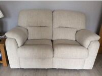 Three seater settee, plus two seater settee that electric recliner.