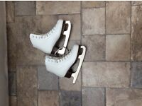 Size 12 girls ice skating boots/2 pairs glittery party shoes