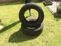 2 Tyres as new size 185/60 R14 continental sport contact