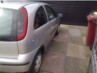 2004 corsa starts and drives has MOT only £80