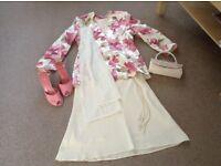 4 piece skirt suit,shoes and handbag