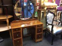 Vintage knee hole dressing table