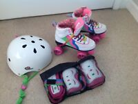 Rio Roller Skates UK4, Helmet & Triple Pad Set