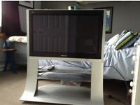 "Panasonic Veira 37"" Plasma TV with fitted stand."