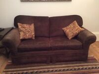 Sofa Bed. Good quality sofa. Very comfortable bed. Removable covers. Brown. Free !