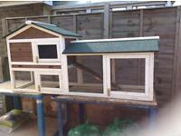 Small rabbit or guinea pig hutch