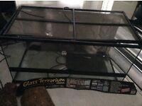 For sale used glass vivarium viv terranium reptile habitat & accessories