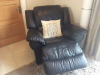 TWO SEATER RECLINER SOFA AND SINGLE RECLINER CHAIR FOR SALE