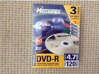 DVD-R Blank discs 3 pack