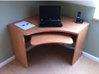 Corner Desk x 2. £50 each or £90 for two. Solid, sturdy and in very good condition. 1m x 1m.