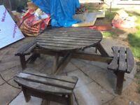 **Free** Garden Picnic bench