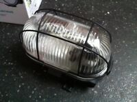 Set of 3 Brand New Caged Bulkhead Outdoor Lights