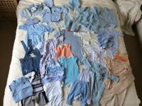 Newborn bundle of boys clothes in excellent condition & great quality