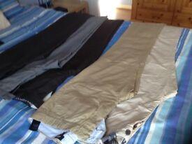 5 pair men's trousers