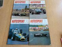 Four Vintage Autosport Magazines From Dec & Oct 1967