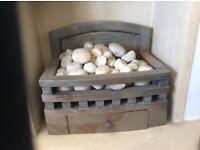 Gas fires coal effect and pebble effect x 2