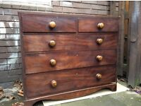 Antiques Solid Wooden Chest of Drawers