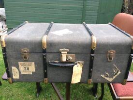 vintage trunk suitcase storage trunk