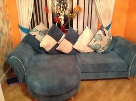 Two x 4 seater sofas