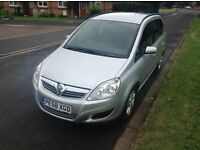 2008 58 VAUXHALL ZAFIRA 18 EXCLUSIVE. FRENCHAY PARK MOTORS BS161HD. OFFER £3699