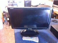 SHARP LC-19D1E-BK LCD TV WITH REMOTE