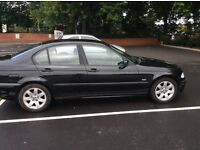 BMW 320d 4 door saloon black X reg