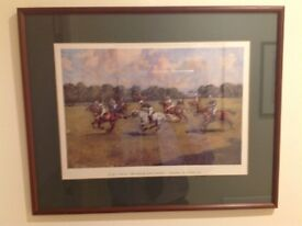Durham Light Infantry Polo Match by Lionel Edwards