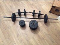 Barbell & dumbbell set 50kg