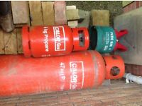 Empty Calor gas bottles