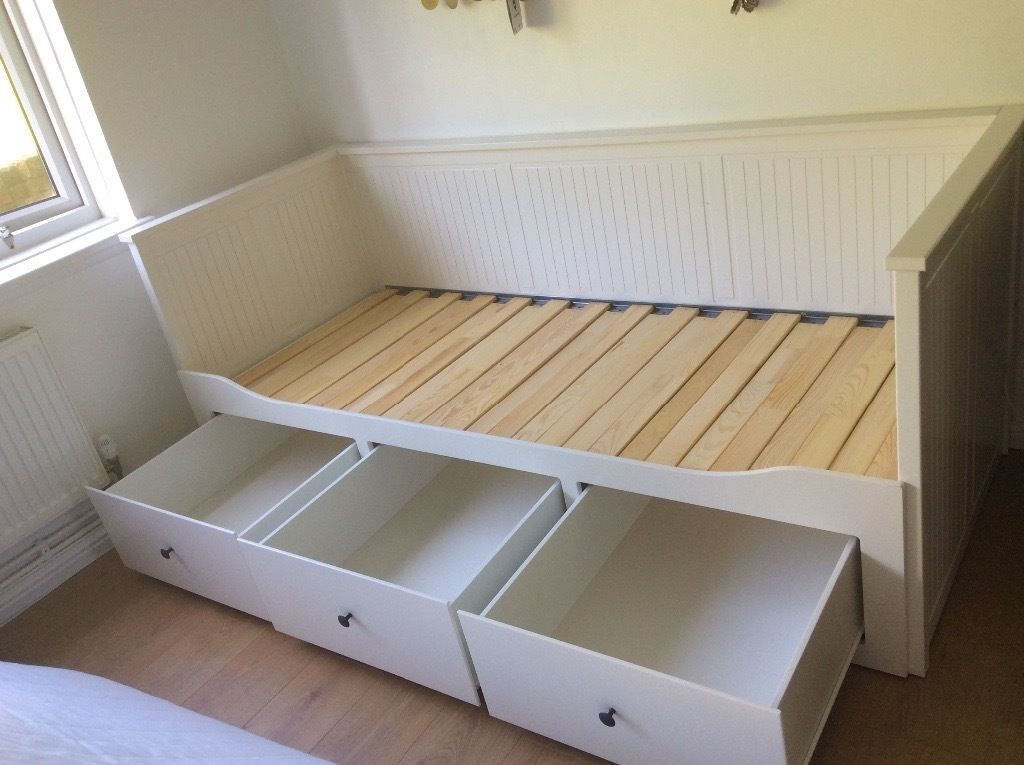 Ikea Hemnes Day Bed Frame Single Converts To King Size