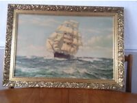 Montague Dawson print in frame