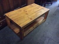 Solid fruitwood coffee table