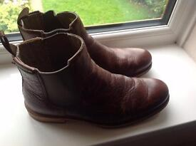 Cat Zachery raw Chelsea boots brown size never worn as new