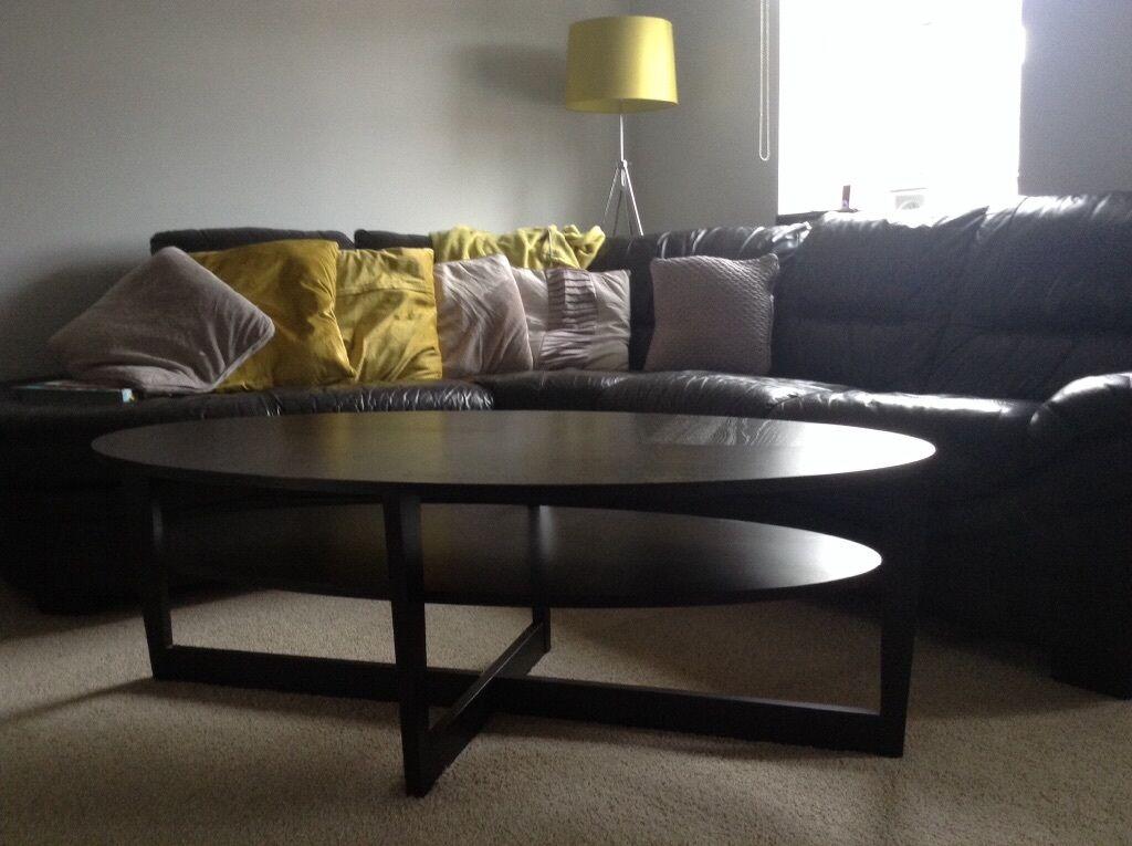 Ikea Vejmon Coffee Table In Brown Black