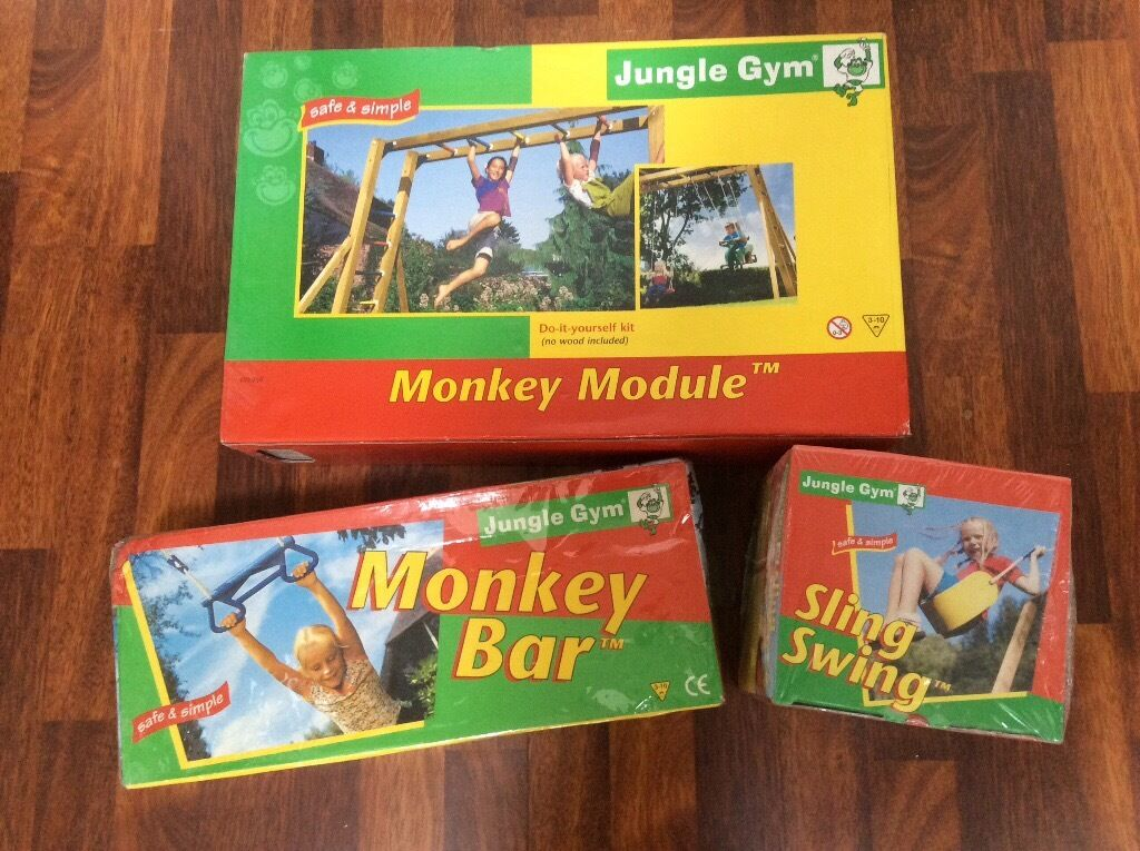 Jungle Gym monkey module and swing accessories