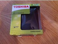 Toshiba USB 3.00 Hard Drive - BRAND NEW in Sealed Box