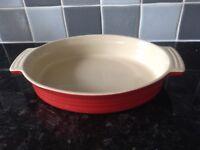LE Creuset Oval Open Stone ware Casserole Dish
