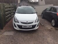 White with black roof Limited Edition Vauxhall Corsa. LOW MILAGE