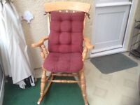 American Style Solid Wood Rocking chair VGC only £35