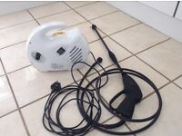 Small but effective little pressure washer, cleans patios, cars etc no problem.