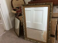 Gilt frame Pilkington glass mirror